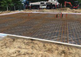 Eisengeflecht für Bodenplatte