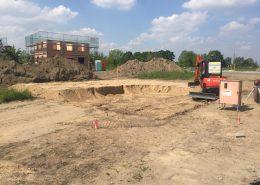 Bodenaustausch und Planumherstellung für anschließende Bodenplatte